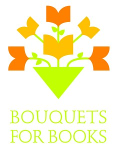 Bouquets for Books logo for web or interactive pieces