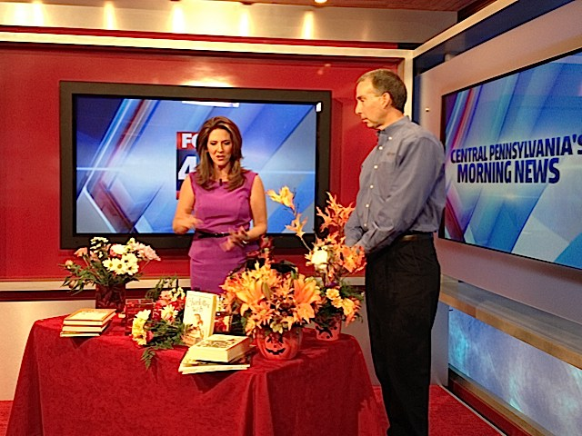 """Barry Spengler of Royer's discusses """"Bouquets for Books"""" and Halloween with Fox 43 Morning News' Heather Warner."""