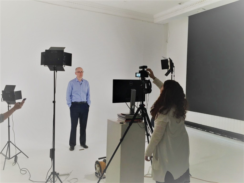 John Binns, behind the scene filming environmental content