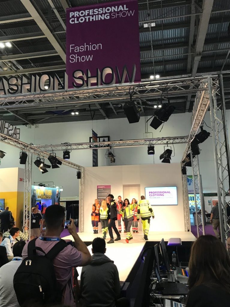 PPE Fashion show at The Safety and Health Expo 2018