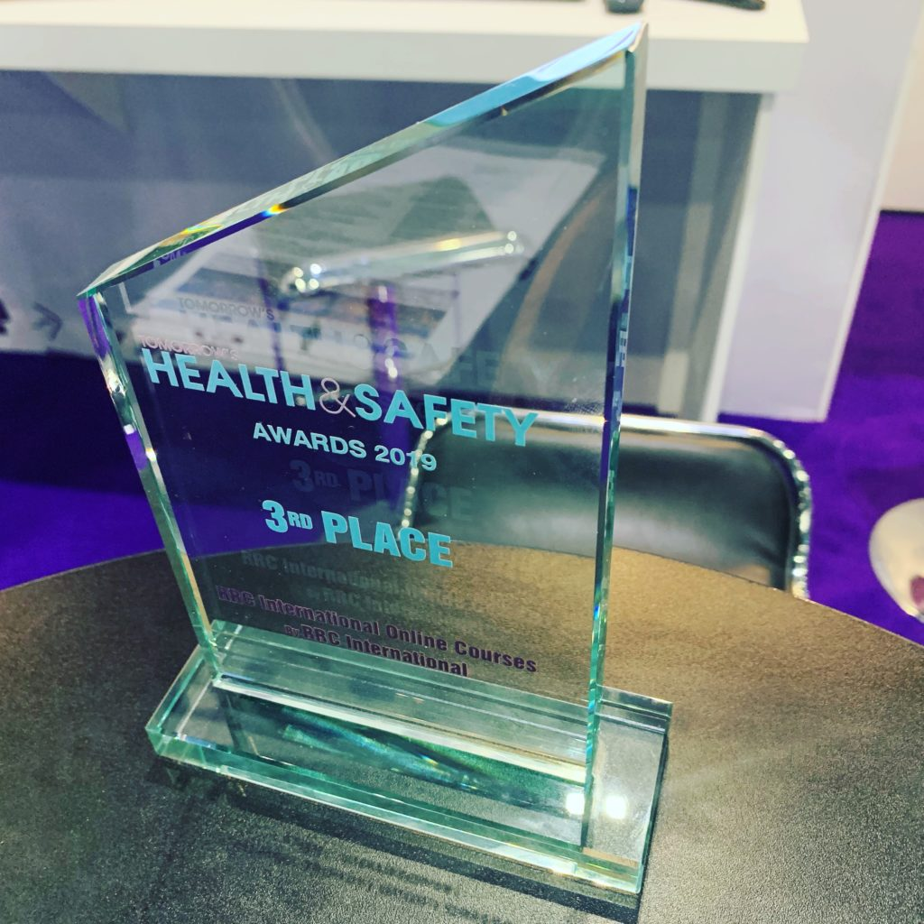 Third place trophy for this years tomorrows hs awards, for our online courses