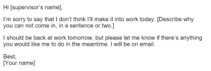 Sample email 2