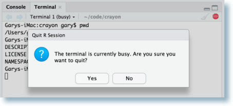 Busy terminal example