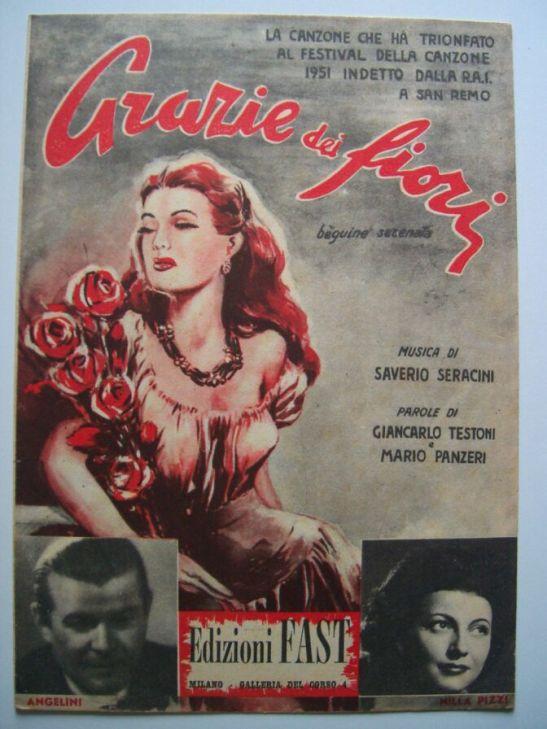 Постер на Нила Пици - първият победител на Фестивала в Сан Ремо