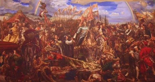 Ян Собиески с полските хусари