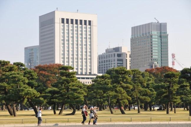 Токио, в близост до Императорския дворец