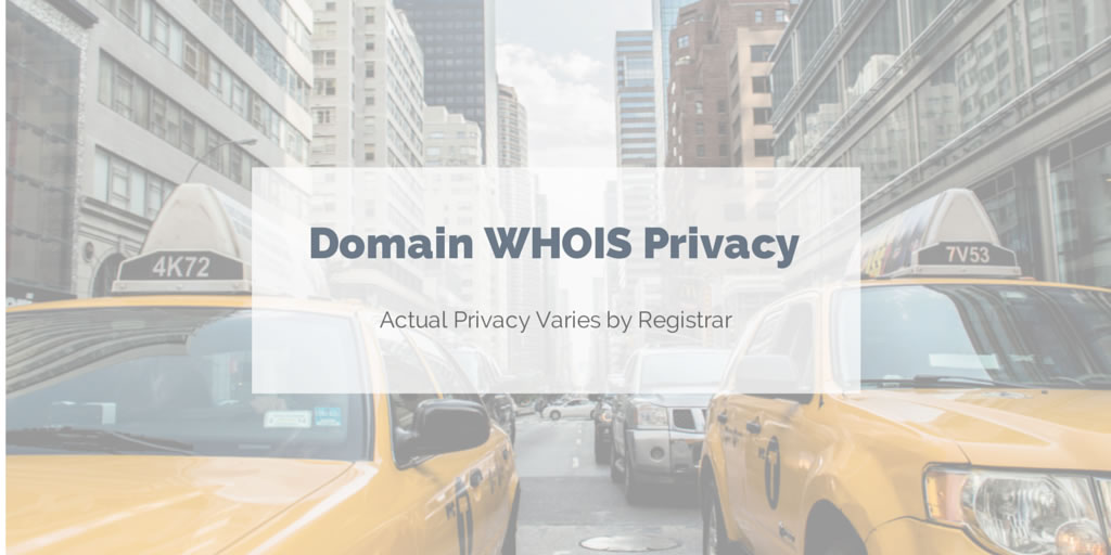 Domain WHOIS privacy variations among registrars