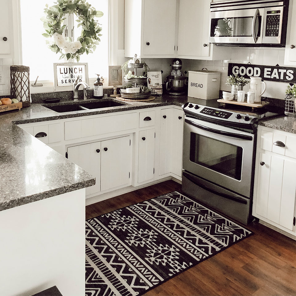 the right rug size for your kitchen