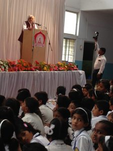 P. Sainath addressing students at Krantisinh Nana Patil Lok Vidyapith