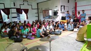 An interaction between Shalini Singh and Mass Communication students