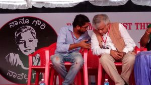 Sainath with Jignesh Mewani #IAmGauri rally in Bangalore