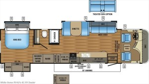 2017 Jayco Precept 35S layout map