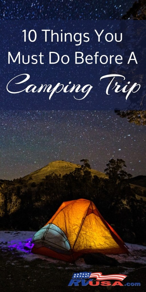 RVUSA 10 things you need to do before a camping trip