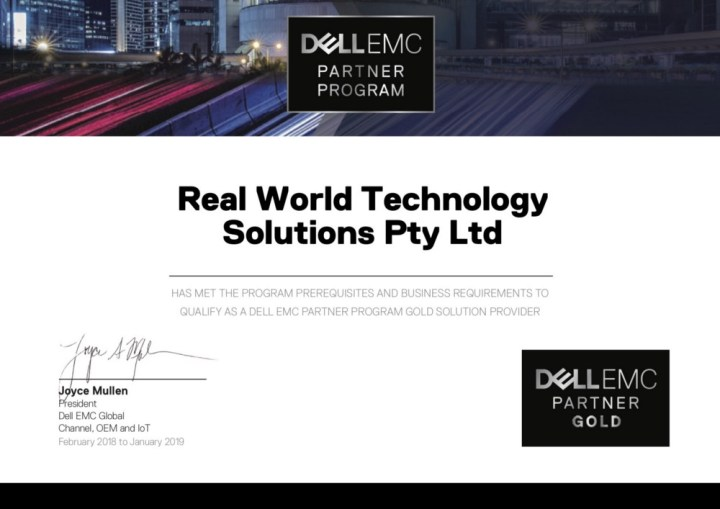 Dell Emc Awards Real World The Ranking Of Gold Partner Real World