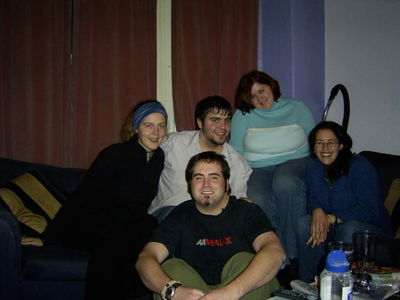 The Manchester Crew (minus Pete): Willow, John, Me, Dani and Claire.