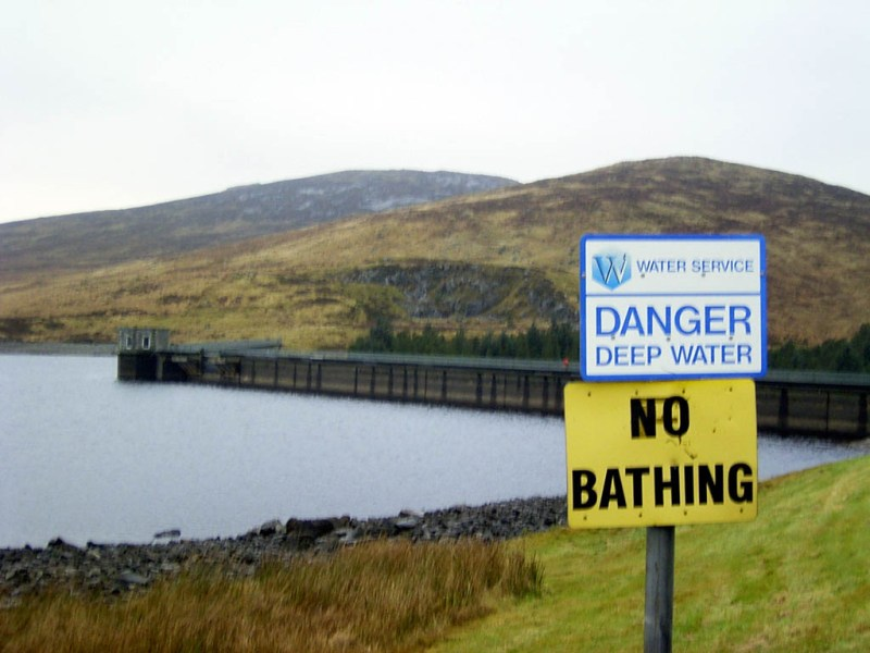 This is the damn cold dam in the Mournes. Good thing they had that sign posted, I was about to unpack my Irish Spring.