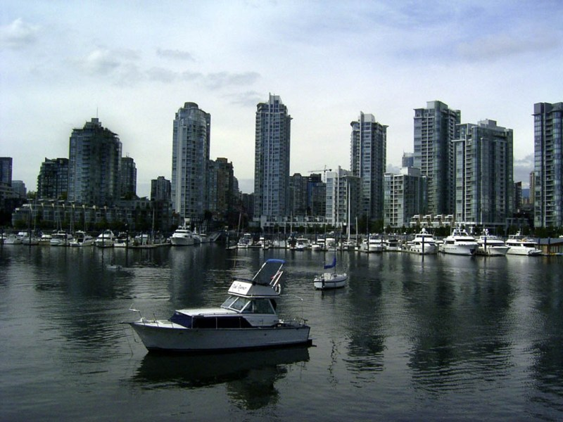 Looking across False Creek at Downtown Vancouver