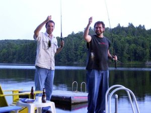 Cory and I up in Huntsville. Cory hated fishing because he had never had much luck. We decided to give it one last shot and they were all but jumping out of the water.