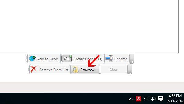klik tombol browse di kanan bawah (screenshot)