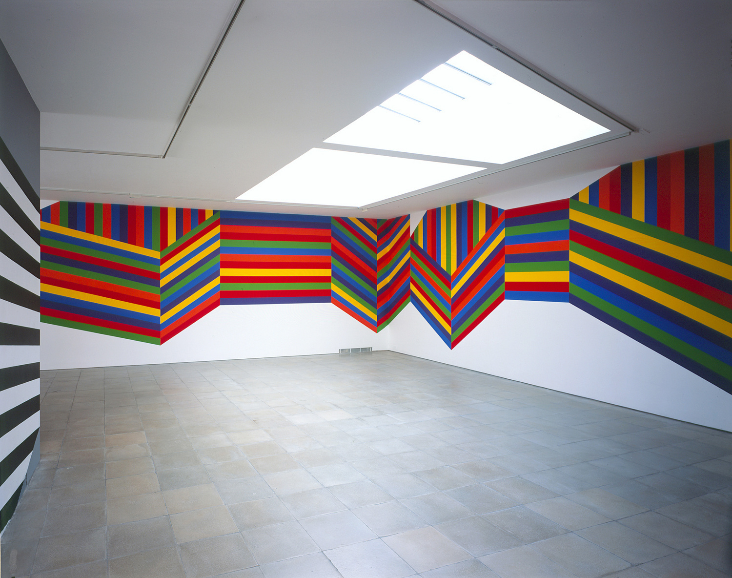 Sol LeWitt Wall Drawing #1138: Forms composed of bands of color, 2004 Acrylic paint Installation dimensions variable
