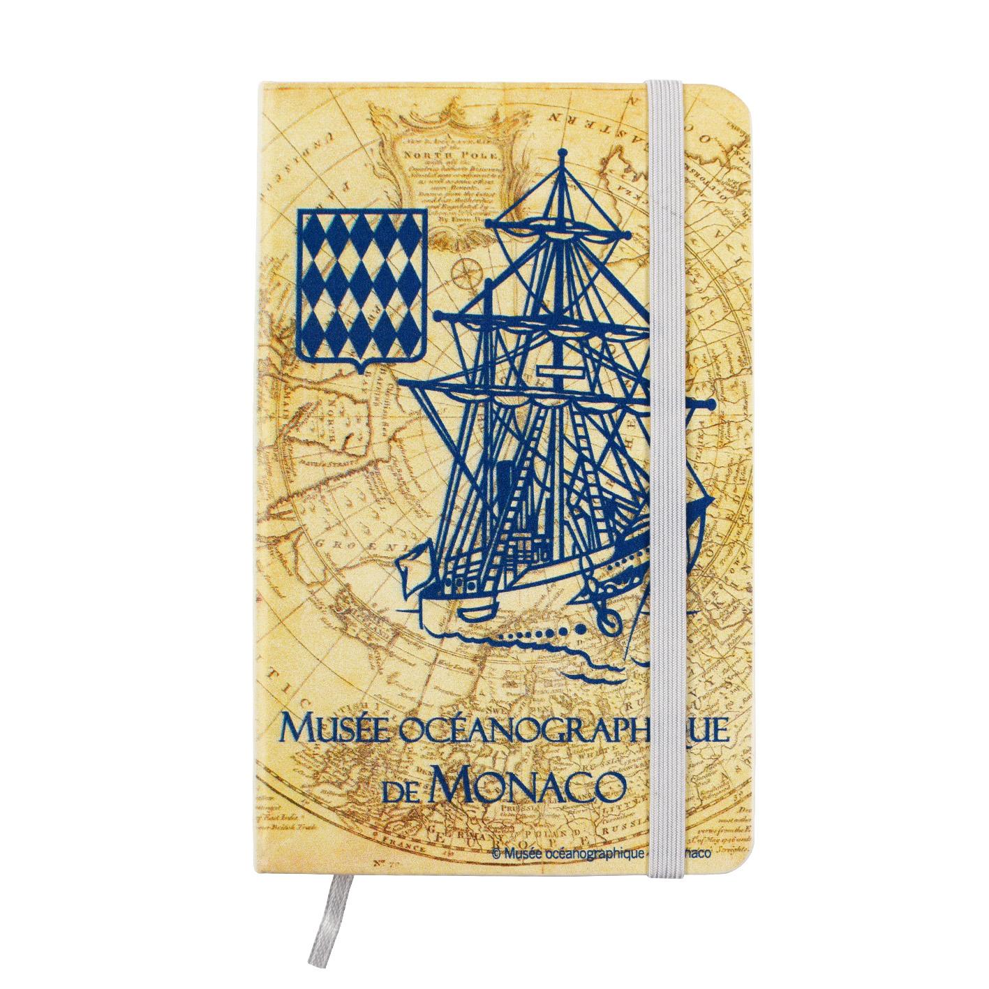 Agenda personalizzata con veliero del Museo Oceanografico di Monaco
