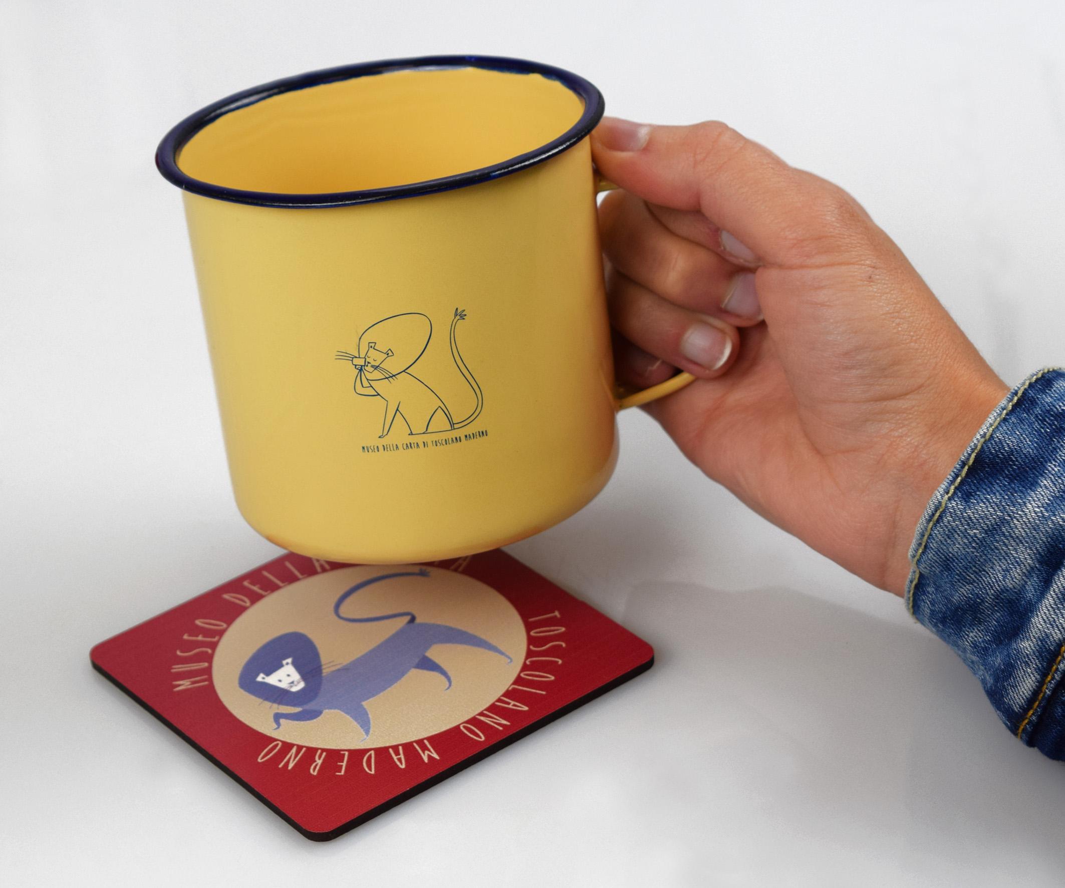 Sottobicchiere personalizzato per il Museo della carta
