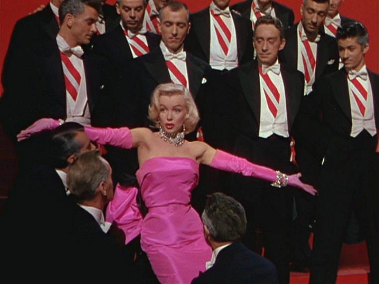 """Marylin Monroe in """"Gli uomini preferiscono le bionde"""""""