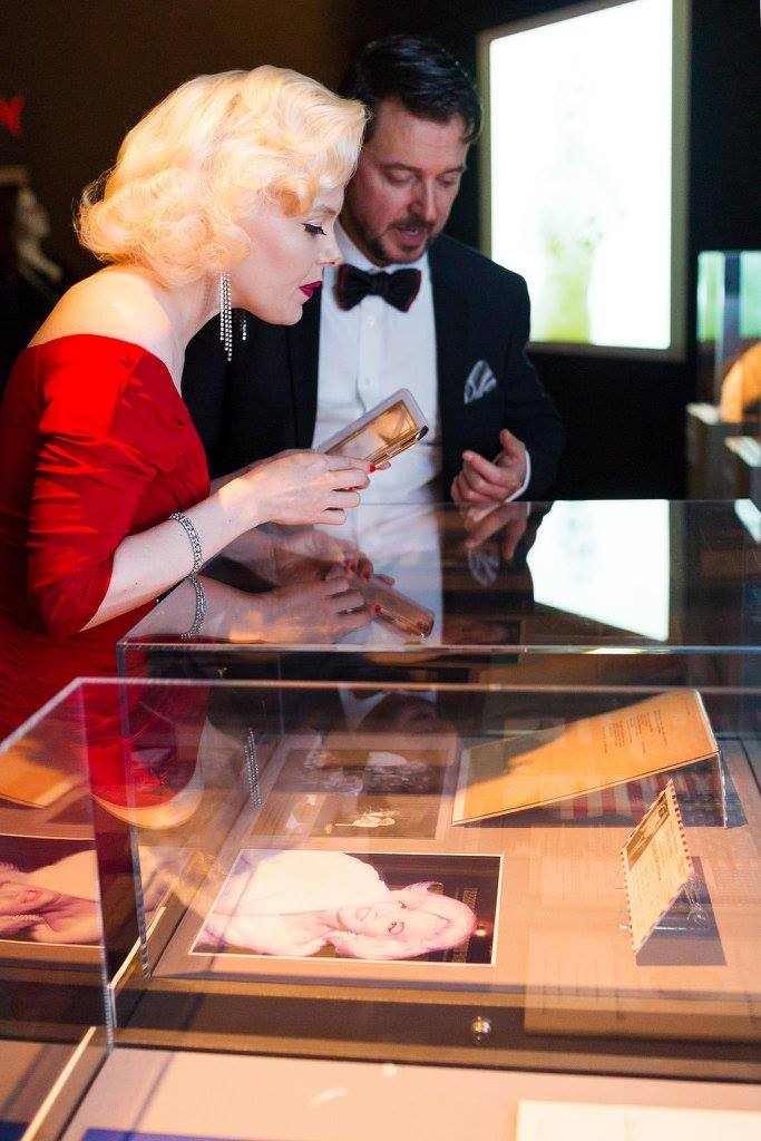"La sosia di Marylin in visita a ""Imperdibile Marylin"""
