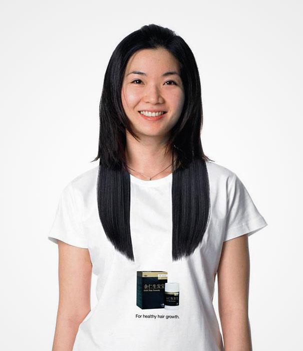 T-shirt con crescita capelli