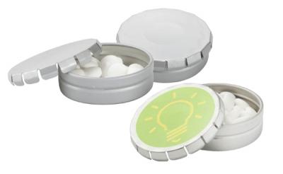 Caramelle con packaging in latta personalizzato