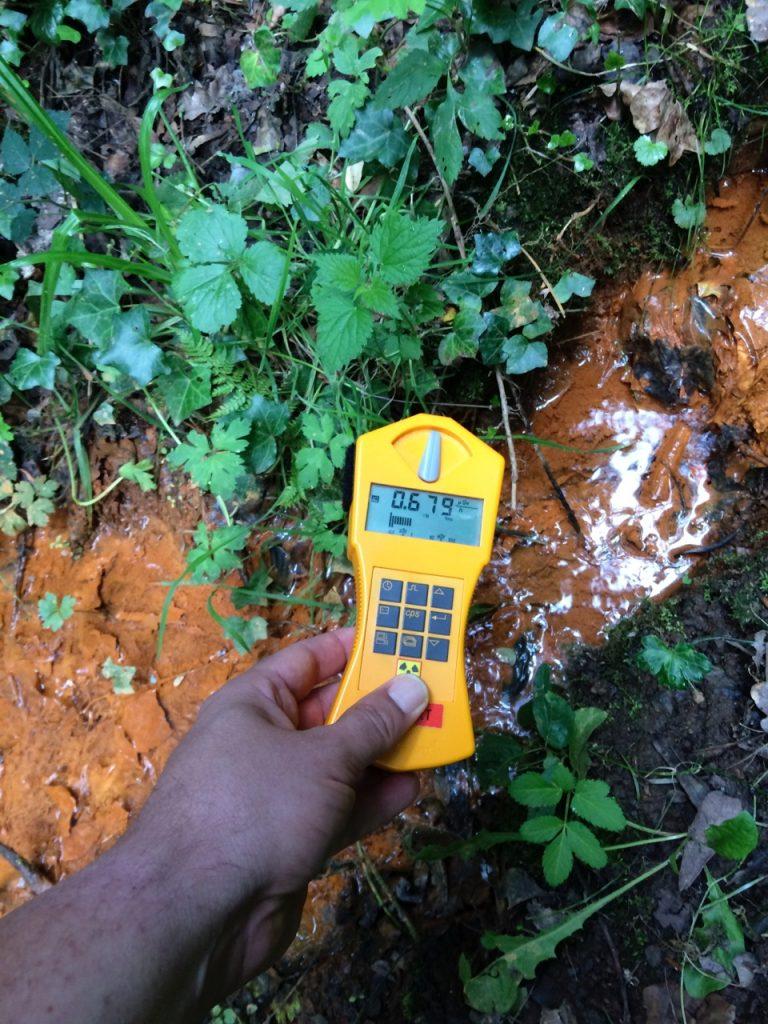 Contaminated stream at Trou ar ru