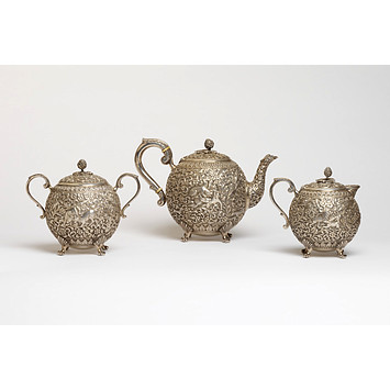 Sugar Bowl and cover, Oomersi Mawji, Bhuj, ca. 1880