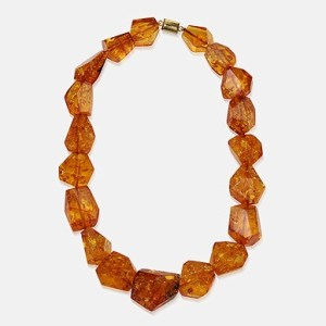 Reconstructed Amber bead necklace weighing approximately 794.31 caratsImage courtesy: Saffronart