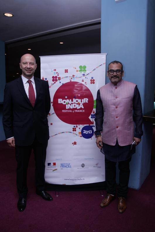 The French Ambassador François Richier & Subodh Gupta