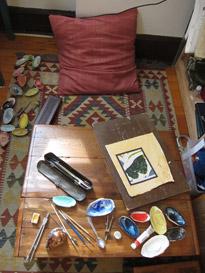 Murad Khan Mumtaz's studio in Charlottesville, Virginia, January 2013. Photo: Murad Khan Mumtaz