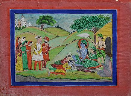 Lot 15, Rama, Sita, and Lakshman worshiped by a Sikh Ruler, Punjab Hills
