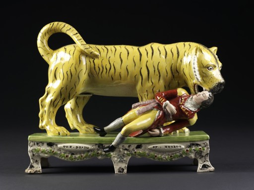 Death of Munro, Glazed Earthenware, Staffordshire, c.1830