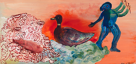The Duck, 2002, Nalini Malani, Lot 23, Saffronart Autumn Art Auction. Image Credit: http://www.saffronart.com/auctions/DurWork.aspx?l=9015