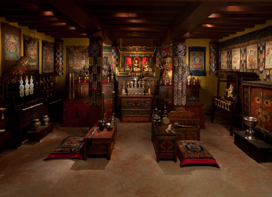 From the Exhibition Gateway to Himalayan Art & The Tibetan Buddhist Shrine Room Photo by David De Armas Source: Rubin Museum Website