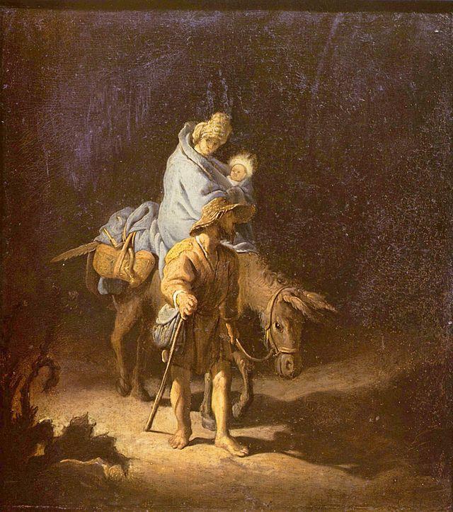 Dutch painter Rembrandt van Rijn's Flight into Egypt Source: http://en.wikipedia.org/wiki/The_Flight_into_Egypt_(Rembrandt,_1627)