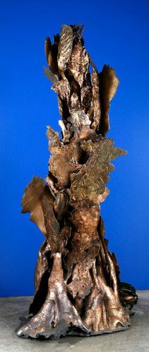 """Forest Flame IV, Bronze, 2009, Collection: Jhaveri Contemporary & Nature Morte Part of """"Transfigurations: The Sculpture of Mrinalini Mukherjee"""" Courtesy: The National Gallery of Modern Art, New Delhi"""