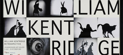 WILLIAM KENTRIDGE - RETROSPECTIVE at Johannesburg Art Gallery (3 July - 23 October 2005), Exhibition Poster