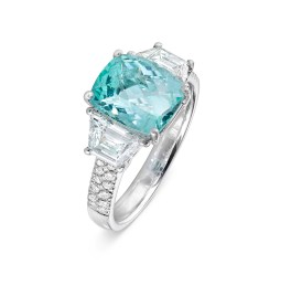Paraiba Tourmaline and Diamond Ring