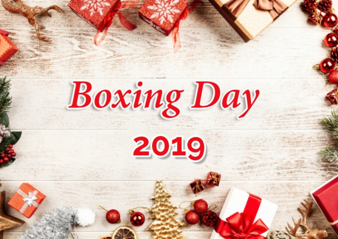 Image result for boxing day 2019