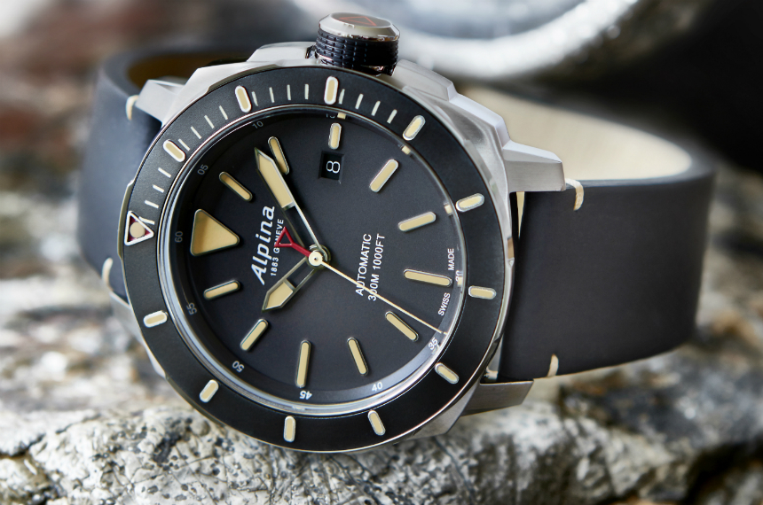Alpina Seastrong Diver 300 Automatic. Image Credit: Ariel Adams, aBlogtoWatch.com
