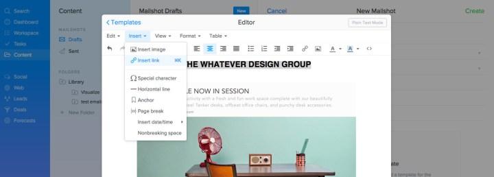 SalesSeek Marketing Dashboard - Email Campaign Builder