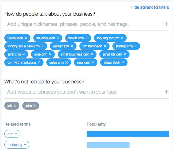 Twitter Dashboard edit