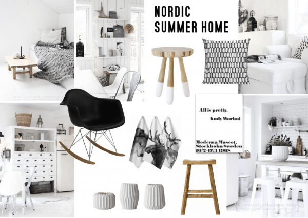 Summer Home Inspiration Nordic Design Sampleboard
