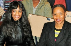 PICKING THE CUDGEL: Ms Lesego Mashishi (Right) SAMSA senior manager, Human Resources; with the late Ms Sindiswa Nhlumayo (Left) in October 2015, shortly before the passed on.