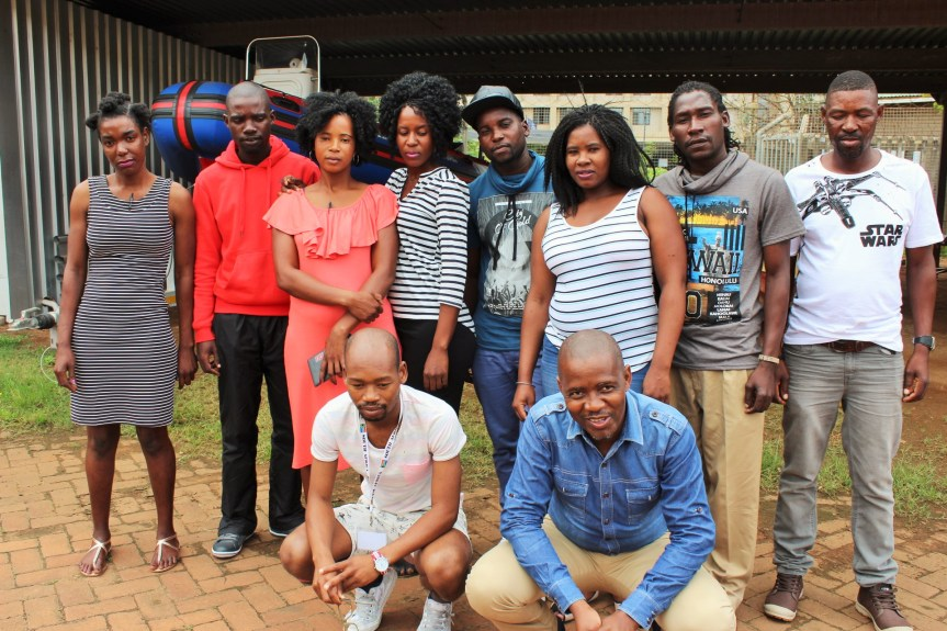 ASPIRANT BOAT PILOTS: Eight youths (Standing) from the Enkovukeni village of Mhlabauyalingana in northern KwaZulu-Natal with their supervisors during their week long training as boat skippers at the KwaZulu-Natal Sharks Board Maritime Centre of Excellence are (From Left), Ms Vyuswa Mthembu, Mr Khulani Ngubane, Ms Zanele Mgobosi, Ms Ntombikayise Mlambo, Mr Philani Ngubane, Ms Nokuthula Ngubane, Mr Khulani Mike Mthembu and Mr Robert Ngubane. At the front are (From Left) Mr Vincent Zulu (KwaZulu-Natal Sharks Board) and Mr Mzwamandla Sosibo (SAMSA)
